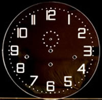 Dial 100: Oakside Special Clear Perspex Round dial with etched numerals 300mm