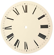Dial 356: Oakside 356mm white Face for Mora clock