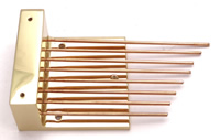 Gongs 011: J series Brass Base mounting Gongs - Low rods (Kieninger J movements)