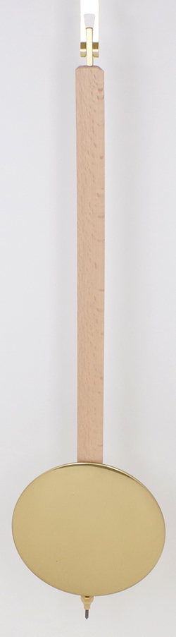 Pendulum 079: Kieninger 54cm x 115mm Timber Pendulum. 19mm wide stick