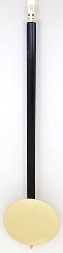 Pendulum 081: Kieninger 65cm x 140mm Timber Pendulum. 19mm wide black stick.