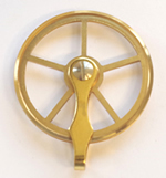 Pulleys 01: Small brass cable pulley (35mm) for PS & RS movements.